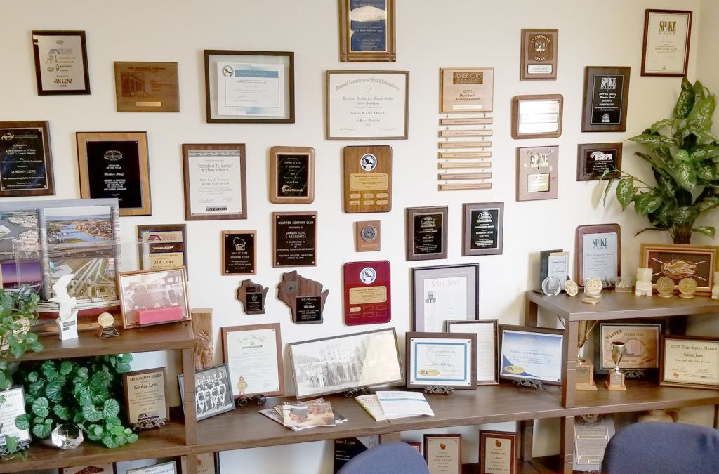 Lenz Insurance Awards and Certificates